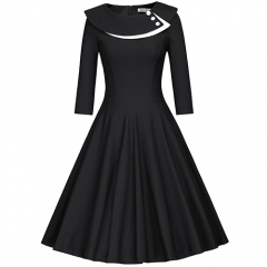 Vintage A Line Spring Picnic Housewife Rockabilly Dress