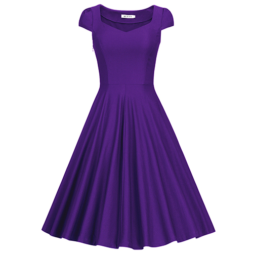 MUXXN Women's Vintage 1950S Flattering Swing Party Dress